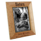 Personalised Sister Wooden Oak Portrait Photo Frame, Engraved Gift