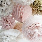 Wedding decorations 15 tissue paper pompoms set - mixed sizes-medium,small, mini