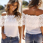 Womens Summer Lace Vest Tops Sleeveless Chiffon Blouse Casual Tank Tops T-Shirt