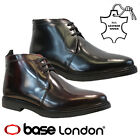 MENS BASE LONDON REAL LEATHER ANKLE CHUKKA DESERT CHELSEA SMART BOOTS SHOES SIZE