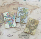Indimap World Map Passport Case Cover Ticket ID Card Holder Travel Wallet Pouch