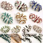 Wholesale CZ Crystal Rondelle Spacer Beads Findings Fit European Charms Bracelet