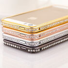 I3CBling Rhinestone Diamond Metal Case Cover Bumper For Apple iPhone 4/4S 5/5S ^