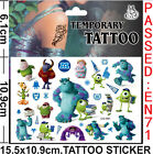 Lot Monsters University Children Temporary Tattoos Stickers fashion Gifts J53