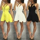 Women Fashion Sexy Rompers Elegant Overalls Short Jumpsuits Lace Patchwork