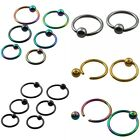 Ball Closure Ring Captive Bead BCR 16G Nose Ear Helix Tragus Lip Piercing 1PC