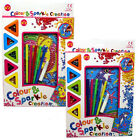 Colour and Sparkle creation Childrens kids Craft Set Sequin Dolphin Bee Animal