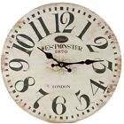 "13"" Westminster London WALL CLOCK Tuscan BISTRO COUNTRY"