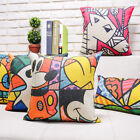 Painting Puppet Style Cartoon Sofa Decor Pillow Case Cushion Cover Square Oblong