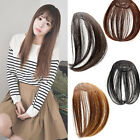 New Clip On Synthetic Hair Bangs Clip in Hair Extension Front Fringe Black Brown