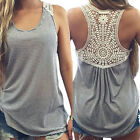Lot Women Summer Lace Vest Top Sleeveless Casual Tank Blouse Tops T-Shirt S-XL