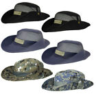 2pk Wide Brim Sun Protective Hat Adjustable Chin Strap Outdoor Fishing Camp Boat