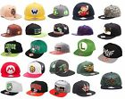 Nintendo / Super Mario Snapback Flat Bill Baseball Cap Adult Size New & Official