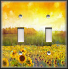Switch Plate Cover - Sunny Tuscany Hills Sunflowers - Kitchen Decor/Home Decor