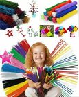 """Chenille Craft Stems Pipe Cleaners 30cm 12"""" For DIY Lots of Colours Pack Sizes"""