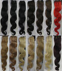 "AAA+ 18""~26"" Remy Human Hair Extensions Weft Body Wavy 100g All Colors Width 59"""
