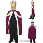 CK762 Boys Kiddy King Royal Xmas Christmas Robe Crown Child Fancy Dress Costume