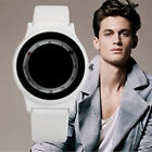 Casual Mens Womens Leather Band Wristwaches Analog Quartz Stainless Steel Watch