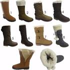 Ladies Womens New  Fur Lined Warm Winter Knee High Snow Boots Shoes Sizes Uk 3-8
