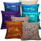 (Ge)3x5mm Sequins w/ Velvet Designer Cushion Cover/Pillow Case*Custom Size*