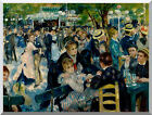At the Moulin de la Galette Pierre Auguste Renoir Repro Stretched Wall Art Print