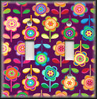 Light Switch Plate Cover - Bright Colors Flowers Girls Room Decor/Home Decor