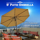 9' PATIO NEW GARDEN UMBRELLA TILT & CRANK SUNSHADE MARKET PARASOL OUTDOOR