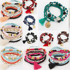 CHIC New Multilayer Women Fashion Charm Beads Bracelet Jewelry Tassel Bangle