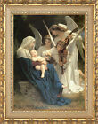 Framed Christian Art Print Song of the Angels William Bouguereau Painting Repro