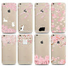 Slim Cherry Pink Rabbit Painted Protective Case Cover For iPhone 5 5S 6 6S Plus