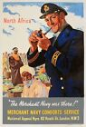 WB70 Vintage Merchant Navy Africa British WW2 World War II Poster Print A2/A3/A4