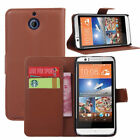Flip PU Leather Wallet Case Marron Simili Cuir Housse Etui Coque Portefeuille