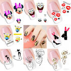 Cute 3D Flower Nail Art Sticker Water Transfer Stickers Decoration Decals Tips