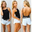 1PC Women's Hot Sexy Backless Bodysuit Swimwear Thong Cami Blouse Tank Tops - CB
