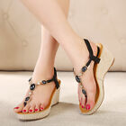 2016 New fashion women wedges sandals platform shoes high-heeled shoes T straps