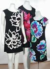 NWT Studio by London Times Shift Dress Cap Sleeves Black Floral Print 4/6/10/12