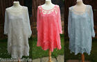 New Lace Floral Sequin Bridal Party Layered 2in1 Tunic Plus Size French Dress