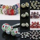 WHOLESALE RESIN AUSTRIAN AB CRYSTAL BIG HOLE BEADS FINDING FIT EP CHARM BRACELET