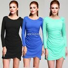 New Women's Sexy Asymmetric Tunic Clubwear Cocktail Party Short Mini Dress K0E1