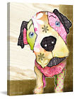 Marmont Hill 'Is It Time Puppy' by Connie Haley Graphic Art on Wrapped Canvas