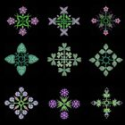 Anemone Quilt Squares 7 Machine Embroidery Designs CD- 36 Anemone Designs