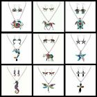 NEW Enamel Charm Turtle Horse Elephant Pendant Necklace Earrings Elegant Jewelry