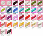 """30 colours -7/8"""" (22mm) wide Shiny Flat Square Sequin Trim Ribbon Sell Meter(s)"""