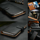 Classic Genuine Leather Flip Wallet Case Cover For Google Nexus Series