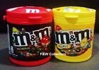 M&M'S CHOCOLATE IN CANNISTER - PEANUT OR MILK CHOCOLATE 100g CONTAINER CAN NEW