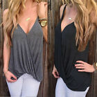 Women's Sexy V-neck Summer Casual Vest Tops Sleeveless Blouse Tank Tops T-Shirt