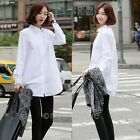 Women Long Sleeve T Shirt Blouse V Neck Casual Loose Tops Cotton Shirt Blouse