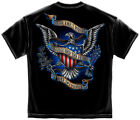 Black T-Shirt with Honor the 1 Percent that Protect the 99% Military design