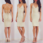 Fashion Women Sexy Sleeveless Bandage Slim Bodycon Evening Party Cocktail Dress