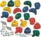 Coloured Climbing Stones Heavy Duty Hand Footholds for Tree House Climbing Frame